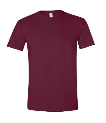 Gildan Mens Short Sleeve Soft-Style T-Shirt (Maroon) - UTBC484