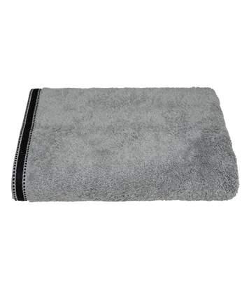 Atmosphera - Drap de bain Drap de douche Gris Foncé Tissu éponge 100 x 150 cm