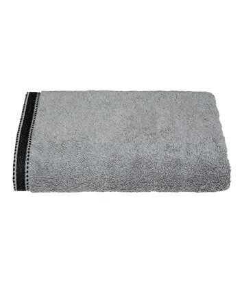 Atmosphera - Drap de bain Drap de douche Gris Foncé Tissu éponge 70 x 130 cm