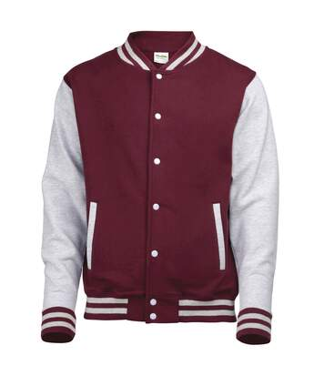 Awdis Unisex Varsity Jacket (Charcoal/ Heather Grey) - UTRW175