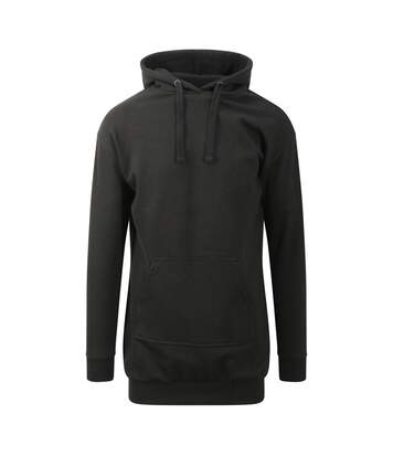 Sweat long à capuche - robe pour femme - JH015 - noir