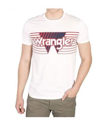 T-shirt blanc Homme Wrangler