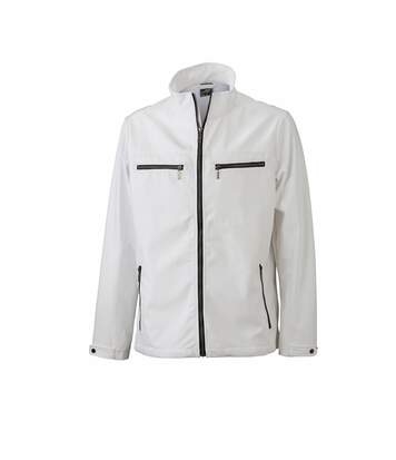 Veste moulante softshell HOMME JN1058 - blanc