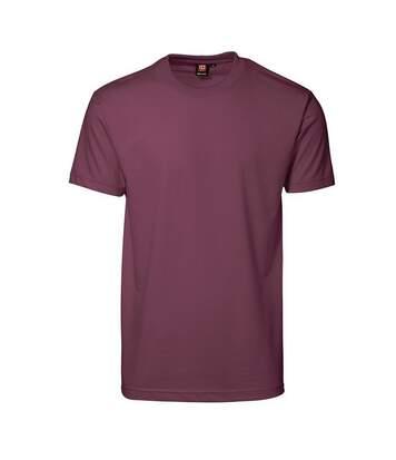Id Pro - T-Shirt À Manches Courtes (Coupe Régulière) - Homme (Bordeaux) - UTID162
