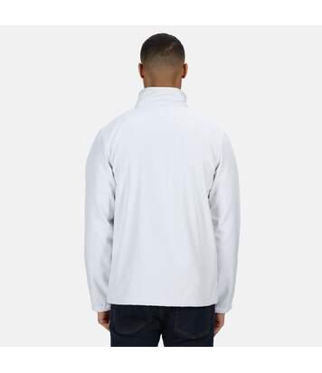 Regatta Standout Mens Ablaze Printable Soft Shell Jacket (White/Light Steel) - UTPC3322