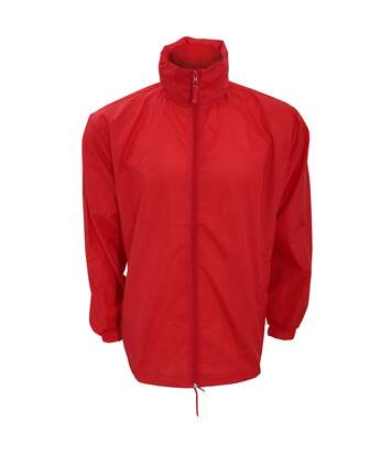 Kariban Mens Casual Windbreaker Jacket (Red) - UTRW2711