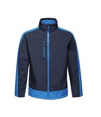 Regatta  Mens Contrast Three Layer Printable Soft Shell Jacket (Navy/New Royal) - UTPC3318