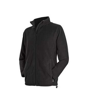 Stedman Mens Active Full Zip Fleece (Black Opal) - UTAB292