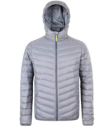 Doudoune légère à capuche duvet homme - 01620 - gris métal