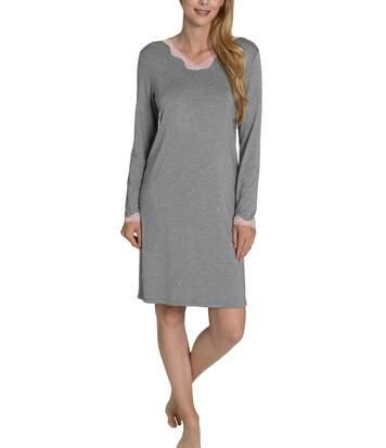 Chemise de nuit Gabrielle gris Lisca