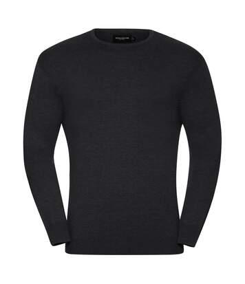 Russell Collection Mens Crew Neck Knitted Pullover Sweatshirt (Denim Marl) - UTRW6079