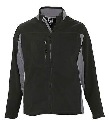 Veste polaire bicolore homme - 55500 - noir