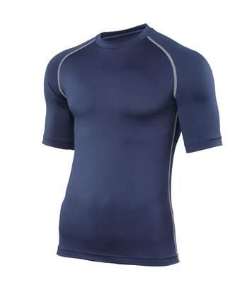 Rhino Mens Sports Base Layer Short Sleeve T-Shirt (Navy) - UTRW1277