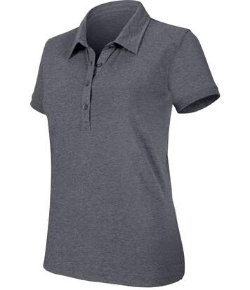Polo manches courtes mélange femme Red Heather