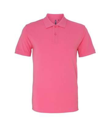 Asquith & Fox Mens Plain Short Sleeve Polo Shirt (Pink Carnation) - UTRW3471