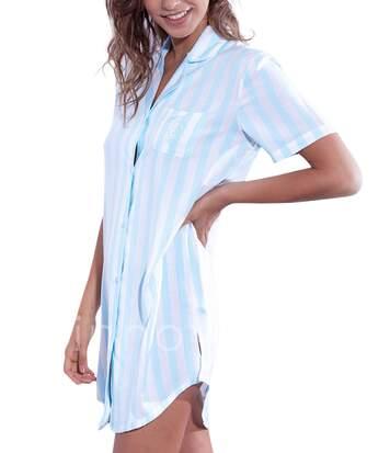 Chemise de nuit Classic Stripes bleu Admas