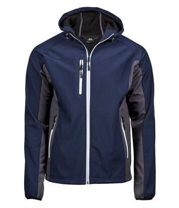 Veste softshell technique à capuche - homme - 9514 - bleu marine