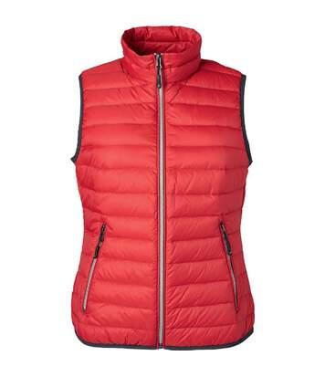 Bodywarmer duvet - JN1137 - rouge - Femme