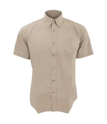 SOLS Mens Brooklyn Short Sleeve Twill Work Shirt (Beige) - UTPC395