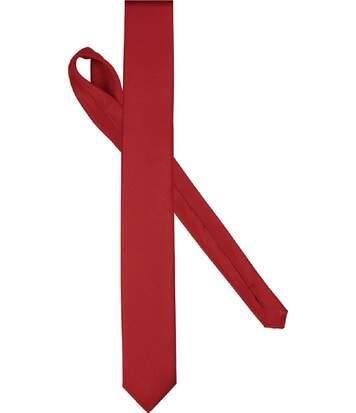 Cravate fine satinée - K863 - rouge