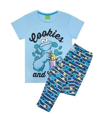 Sesame Street Womens/Ladies Cookie Monster Pyjamas (Blue) - UTNS5219
