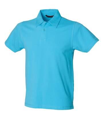 Skinni Fit Mens Stretch Polo Shirt (Surf Blue) - UTRW1398