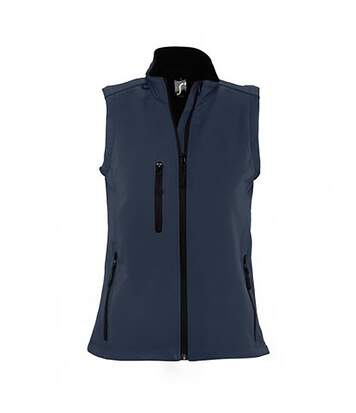 SOLS Womens/Ladies Rallye Soft Shell Bodywarmer Jacket (French Navy) - UTPC350