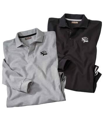 Súprava 2 polo tričiek Black Grey
