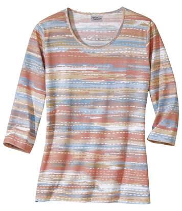 T-Shirt mit modischem Dekordruck