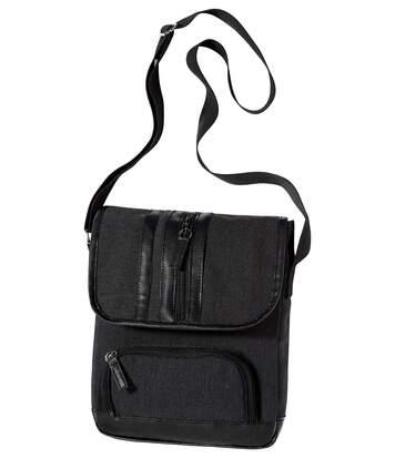 Men's Black Multi-Pocket Holster Bag