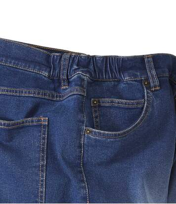Blue washed stretch jeans