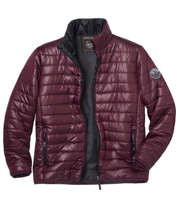 Men's Lightweight Mountain Puffer Jacket - Burgundy