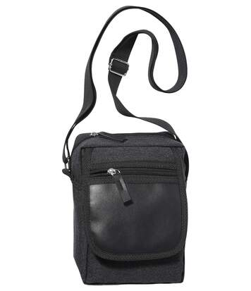Men's Black Dual Fabric Holster Bag
