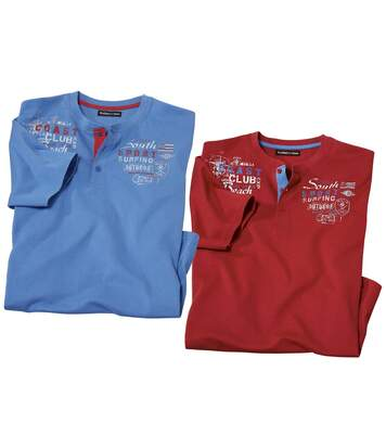 2er-Pack Henleyshirts Beach Club