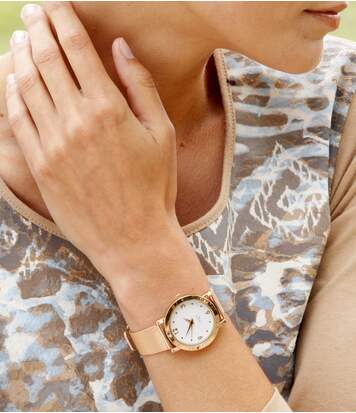 Horloge met Swarovski® kristallen