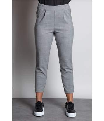 Pantalon droit en maille imprimée NADEGE Check