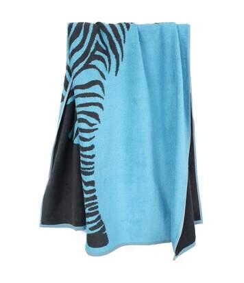 Drap de plage 75x150 cm KENYA Bleu Zèbre