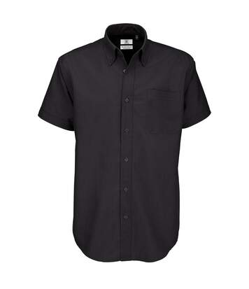 B&C Mens Oxford Short Sleeve Shirt / Mens Shirts (Black) - UTBC106