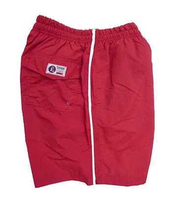 Duke Mens Yarrow Kingsize Full Length Swim Short (Red) - UTDC193