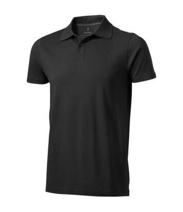 Elevate Mens Seller Short Sleeve Polo (Anthracite) - UTPF1825