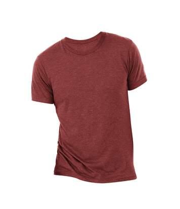 Canvas Mens Triblend Crew Neck Plain Short Sleeve T-Shirt (Cardinal Triblend) - UTBC2596