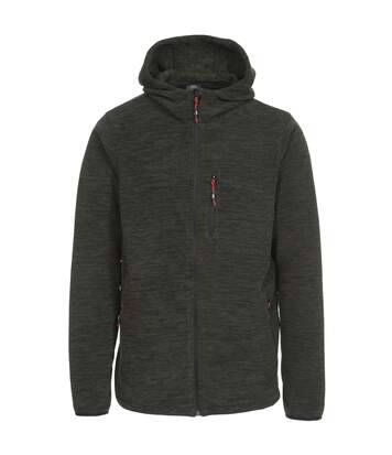 Trespass Mens Barack Full Zip Hooded Fleece Jacket (Olive Marl) - UTTP3390