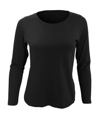SOLS Womens/Ladies Majestic Long Sleeve T-Shirt (Deep Black) - UTPC314