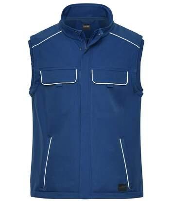 Gilet de travail bodywarmer softshell - JN883 - bleu roi foncé