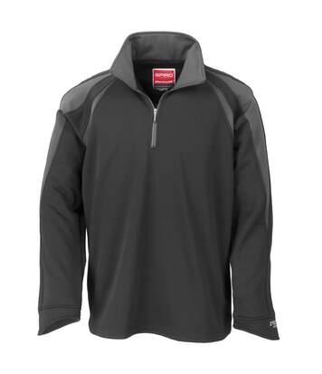 Spiro Mens Sprint Performance Sports Top (Black/Grey) - UTRW1456