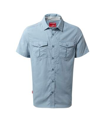 Craghoppers Mens NosiLife Adventure II Short Sleeved Shirt (Fogle Blue) - UTCG1105