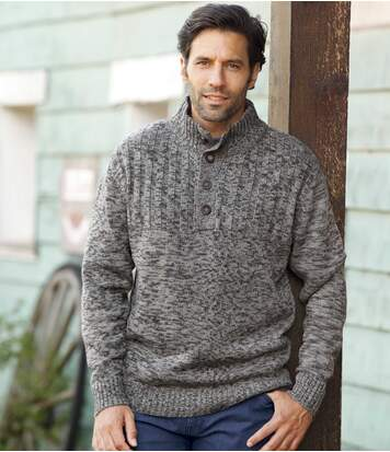 Men's Grey Cosy Knit Jumper
