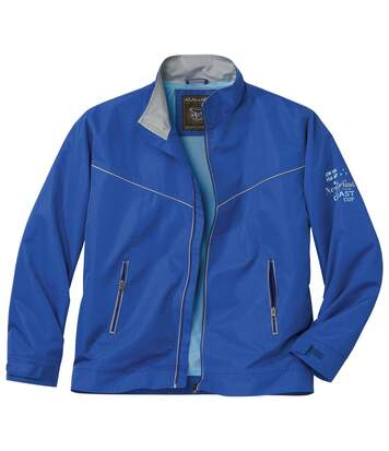 Men's Stylish Blue Windbreaker Jacket