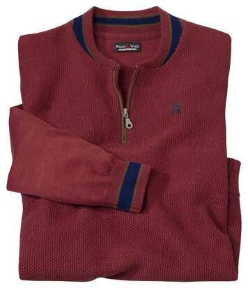 Sportovní pulovr zmerino vlny snízkým stojáčkem
