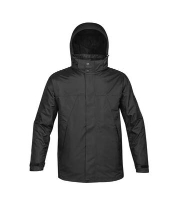 Stormtech Mens Fusion 5 In 1 System Parka Hooded Waterproof Breathable Jacket (Black/Black) - UTBC1185
